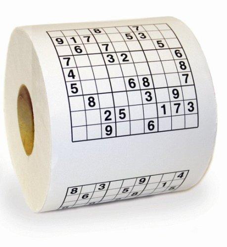 rollo de papel higiénico con sudoku