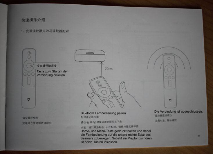 foto de las instrucciones para emparejar el mando