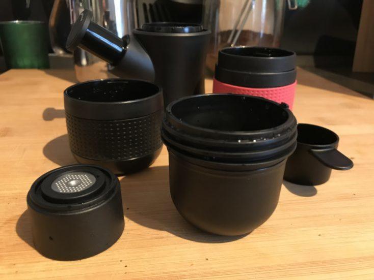 Partes de la cafetera portátil