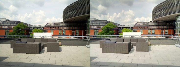 fotos de prueba, la derecha con modo HDR