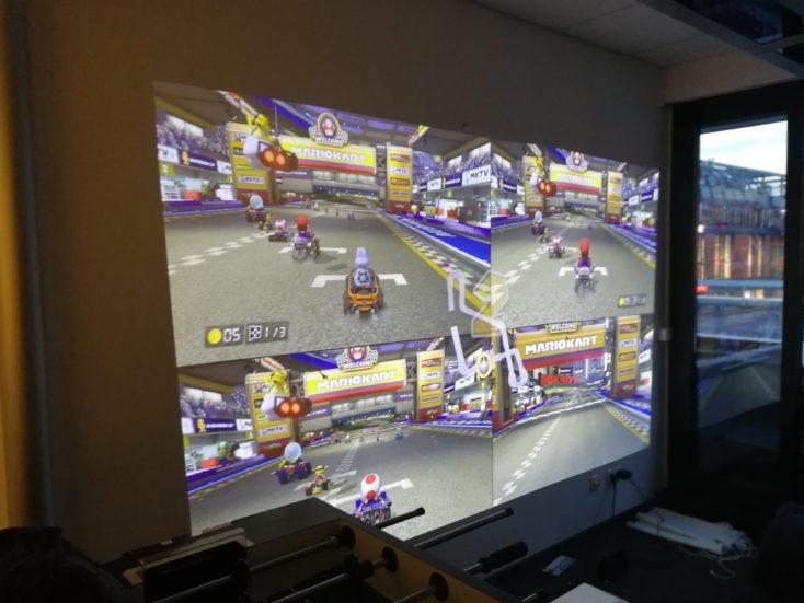 Mario Kart con el proyector