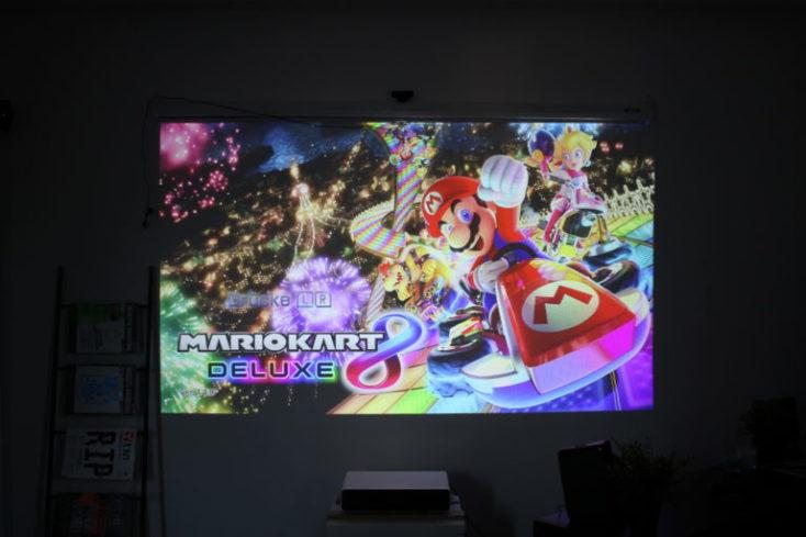Mario Kart en el proyector