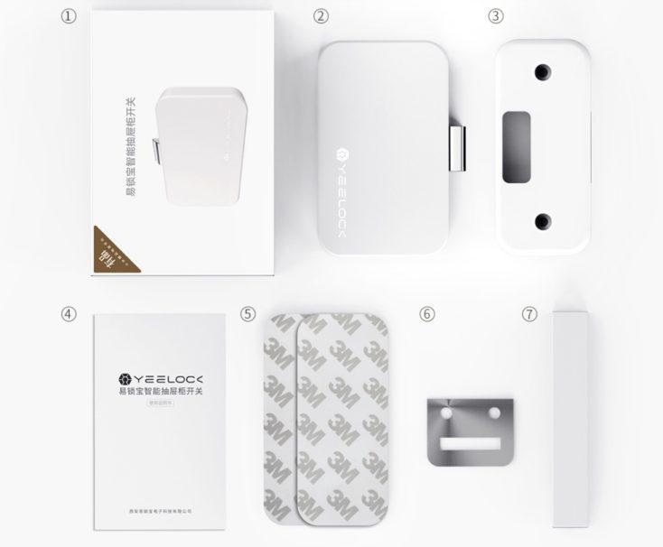 accesorios incluídos en el paquete