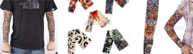 diferentes modelos de las mangas de tatuaje falso