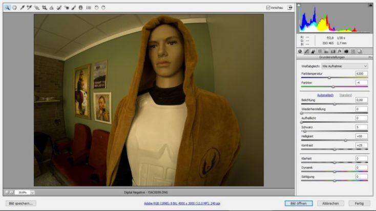 fotografía con la YI 4K + con formato RAW