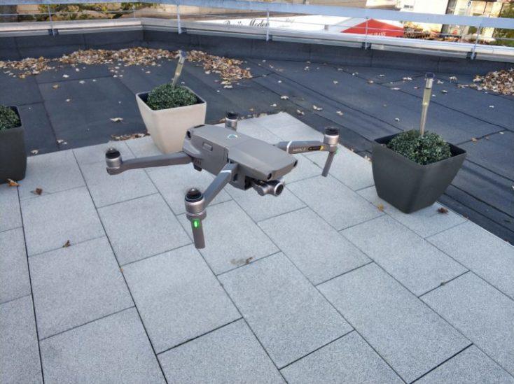 foto del del despegue, primer vuelo con el drone