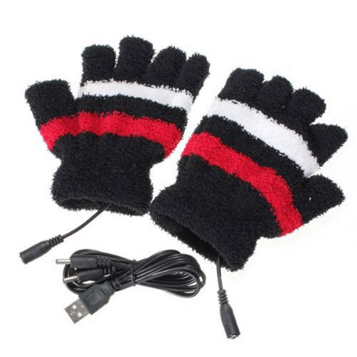 guantes y cable USB