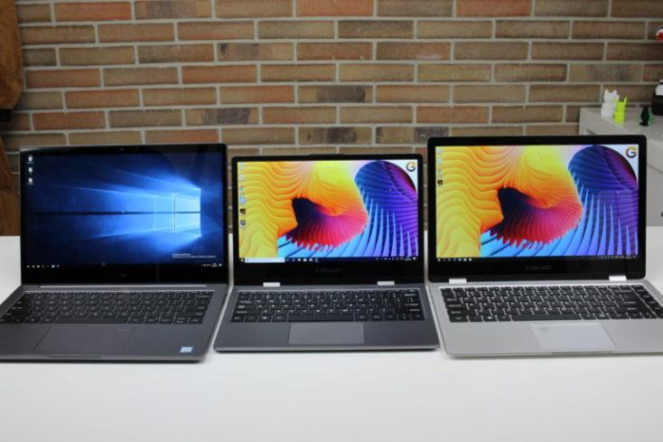 """Comparación del Xiaomi Mi Notebook 12,5"""", Teclast F5, Teclast F6 Pro"""