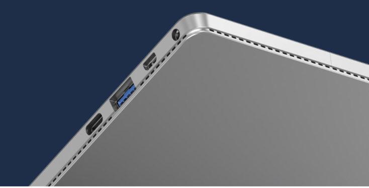 puertos en el lateral de la tablet