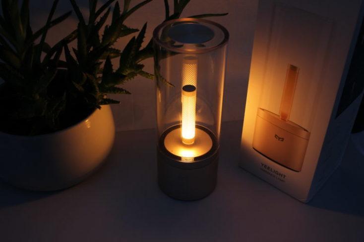 la lámpara con 100% de claridad