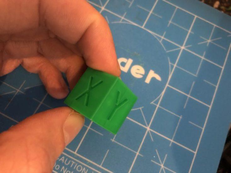 cubo 3D impreso con la Creality Ender 2