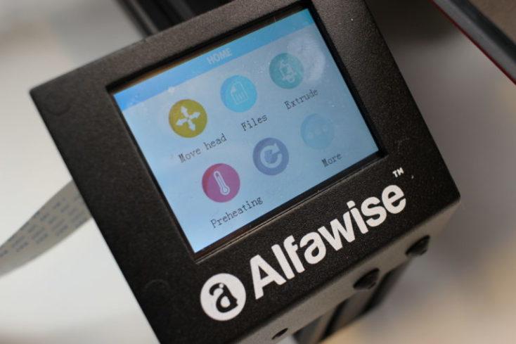 monitor LCD de la impresora