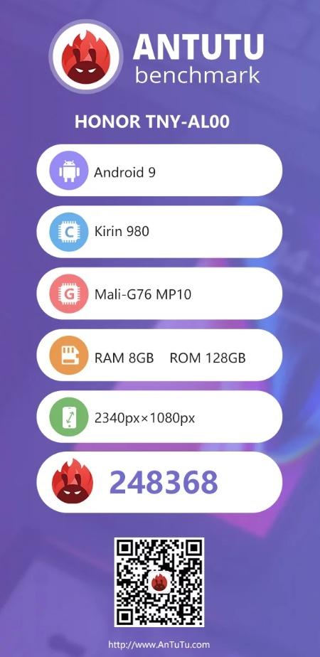 Captura de pantalla del AnTuTu Benchmark