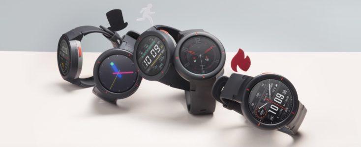 5 relojes mostrando distintas funciones activas