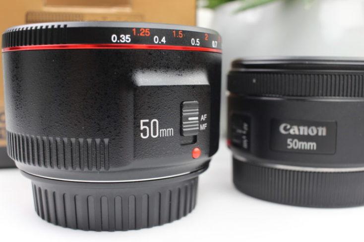 foto de los objetivos Yongnuo y Canon