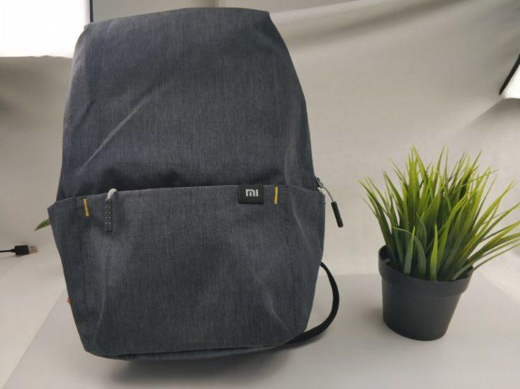 foto de la mochila vista de frente con el lgo Mi