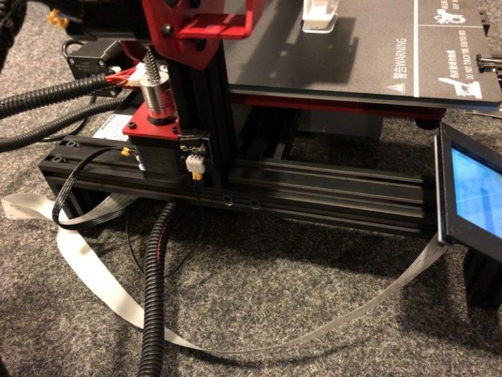 cable plano de la impresora 3D