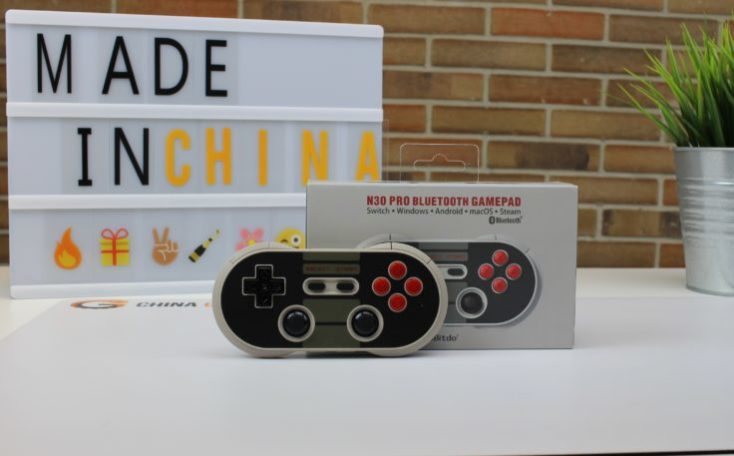mando NES30 con la caja y nuestro cartel made in china