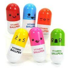 bolígrafos plegados en distintos colores