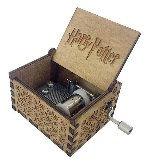 caja de música de Harry Potter abierta