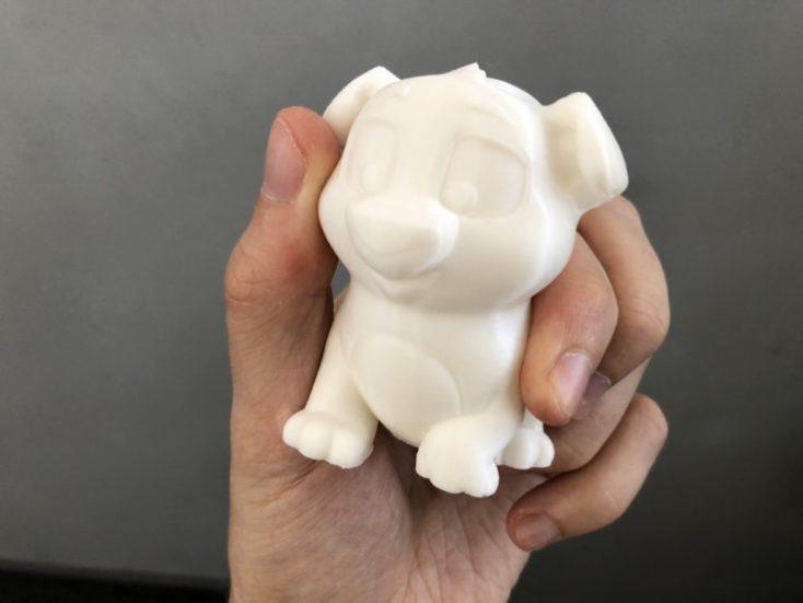 impresión de prueba de un perro con la creality Ender 3