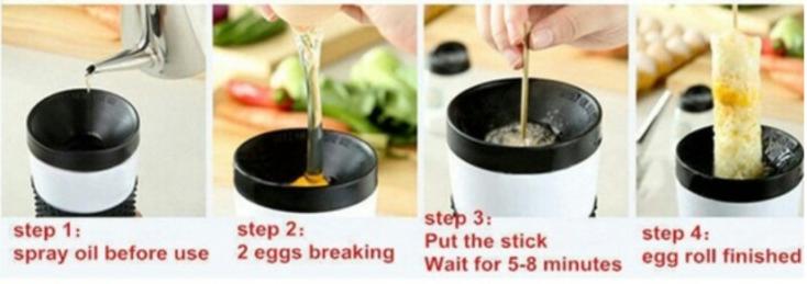 Eggmaster-Brocheta de huevos revueltos-uso