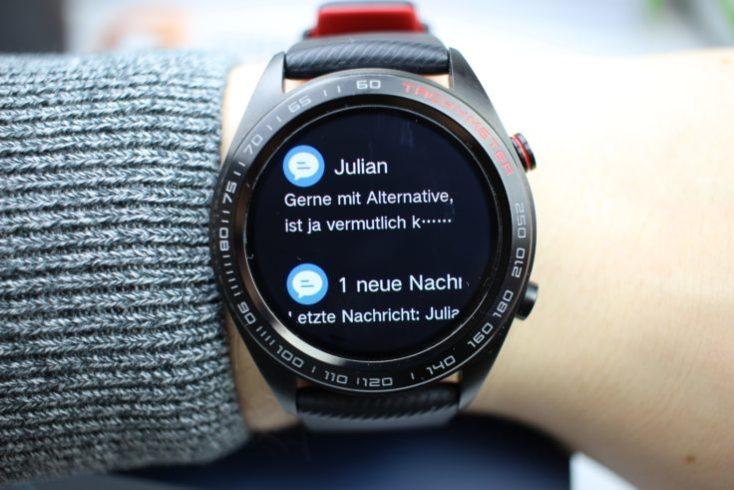 mensajes en el honor watch