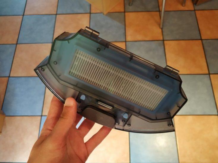 cámara de polvo del aspirador
