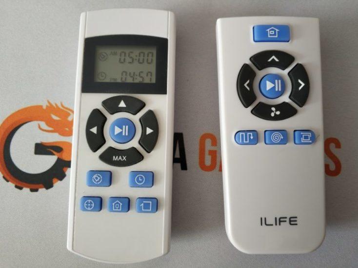 comparación de los mandos de Ilife, izquierda la versión estándar, derecha el mando del A7