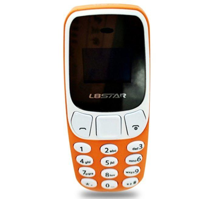 L8STAR BM10 Mini teléfono móvil en naranja