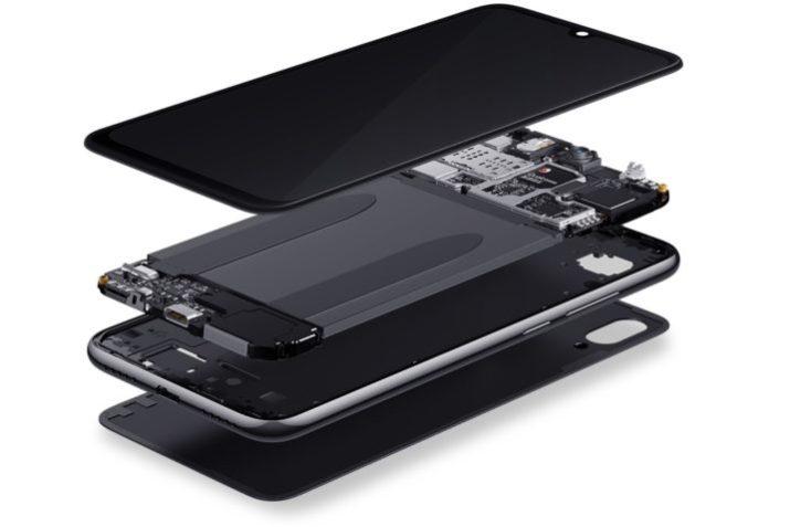 estructura por dentro del Redmi Note 7