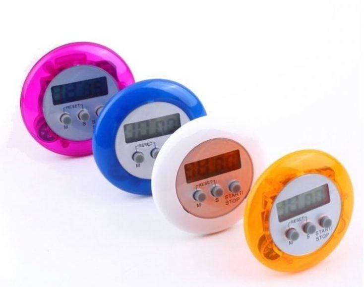 temporizador en distintos colores