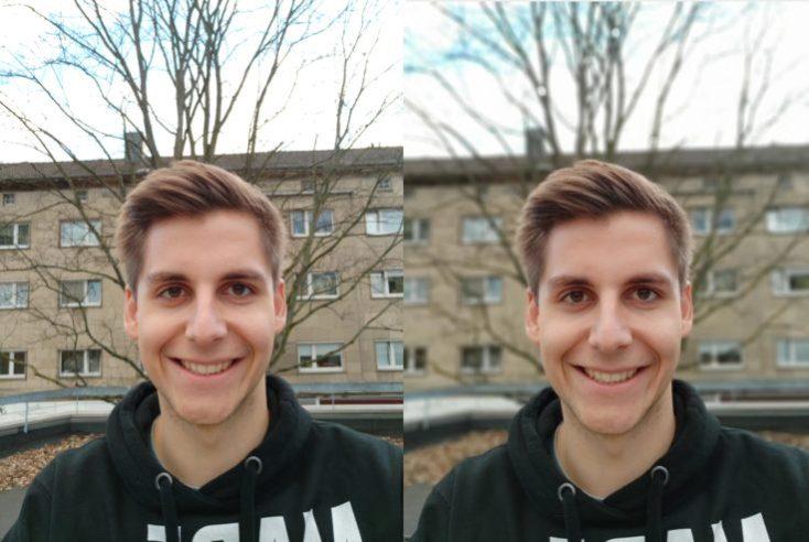 modo retrato con la cámara frontal