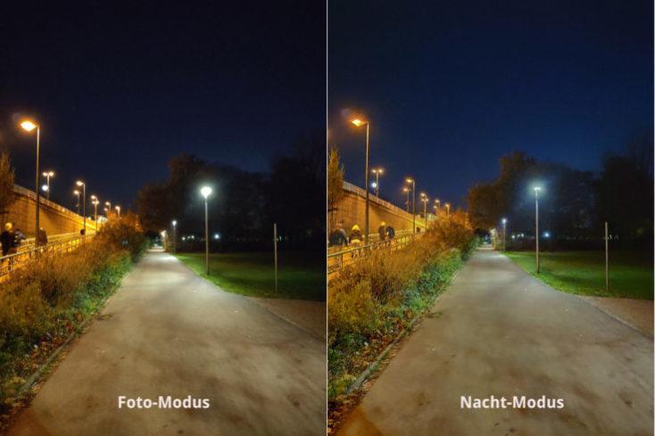 Foto de prueba comparando una foto normal y el modo noche