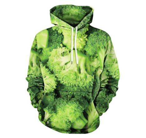 sudadera con capucha de brócoli