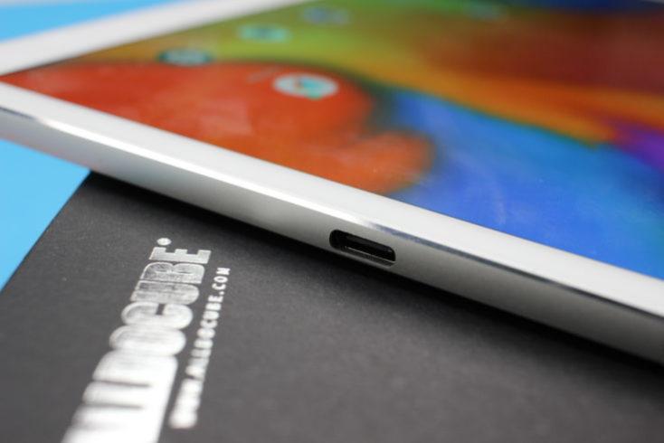 Ranura USB tipo C de la tablet