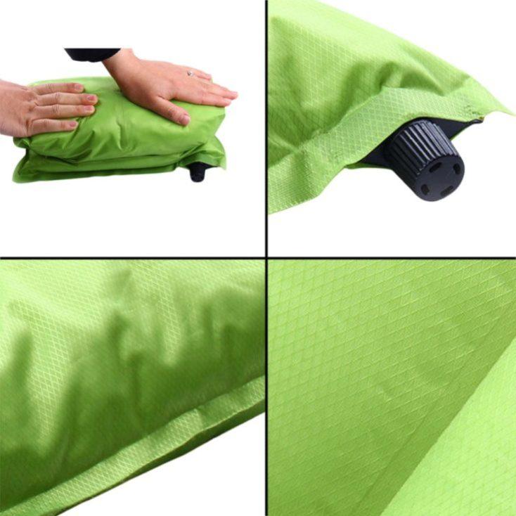 Varias fotos de la almohada autoinflable