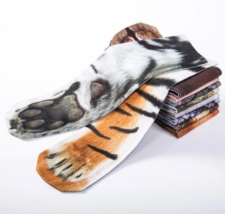 Distintos diseños de los calcetines de animales