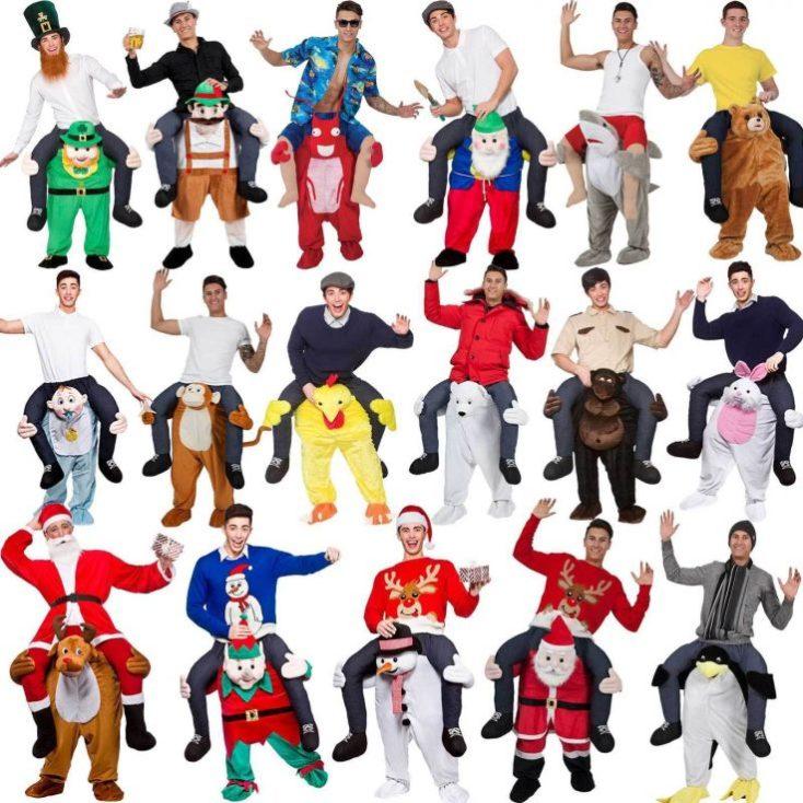 Distintos modelos de disfraces a hombros