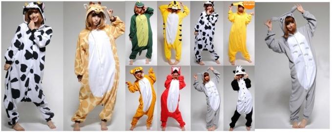 diferentes disfraces de animales