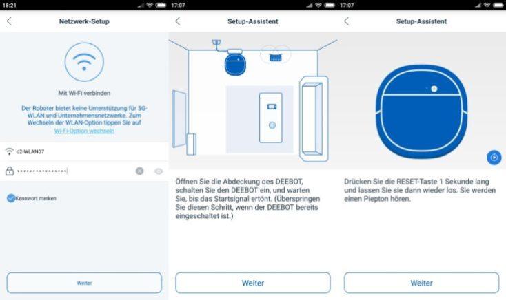 Conexión con la red wifi en la App del ECOVACS DEEBOT OZMO 930