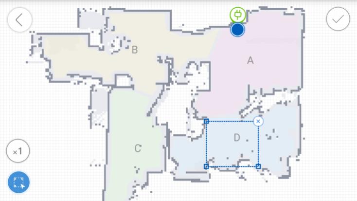 Habitación marcada en la App del ECOVACS DEEBOT OZMO 930