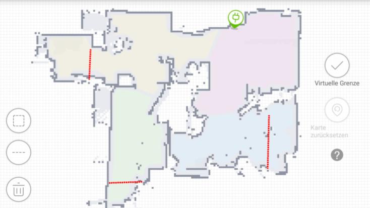 Paredes virtuales en la App del ECOVACS DEEBOT OZMO 930