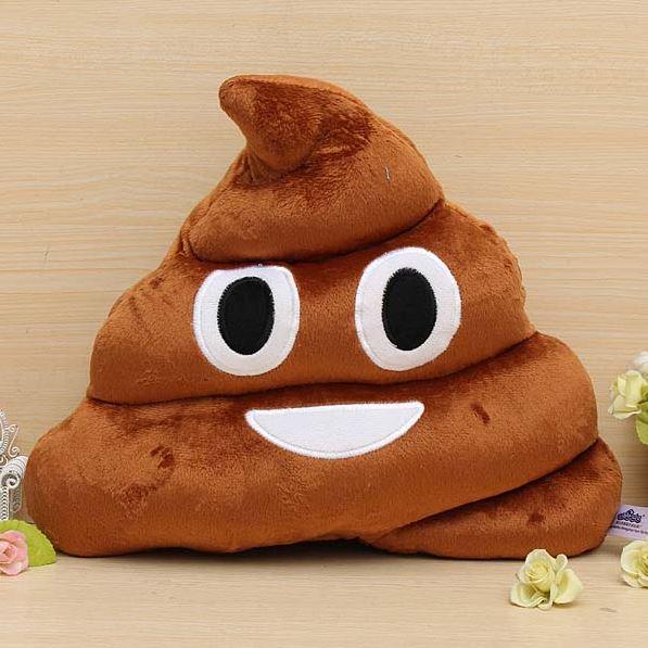 cojín Emoji Poop cojín sonriente