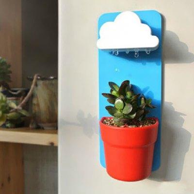 maceta con riego automatico en forma de nube para nuestras plantas