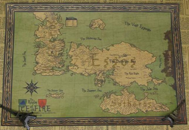 Póster del mapa de Westeros de Juego de Tronos