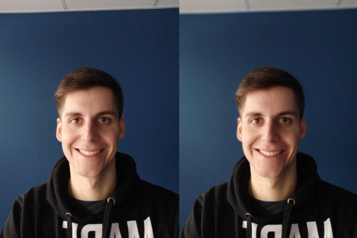 Dos selfies con la cámara frontal del mi 9