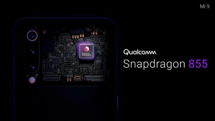 Foto promocional del procesador Qualcomm Snapdragon 855 del mi 9