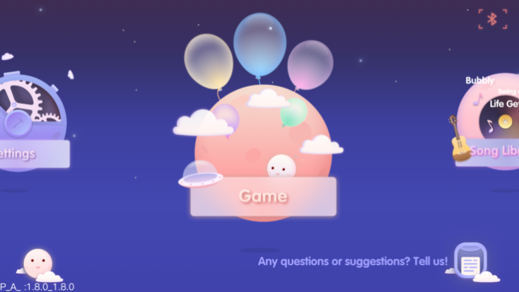 pantalla de inicio de la app