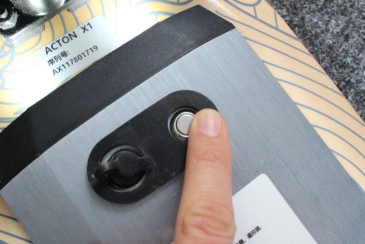 Botón de encendido del ACTON X1